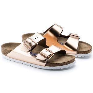 Birkenstock Arizona Soft Footbed Metallic Sandals